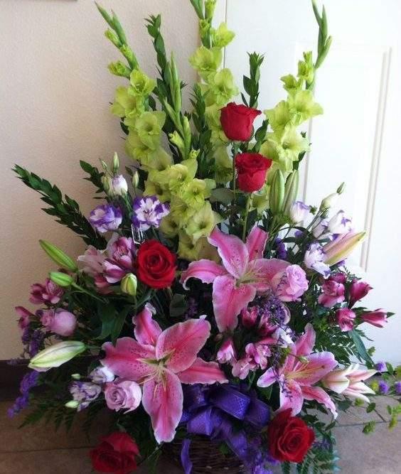 cesto fiori funebre