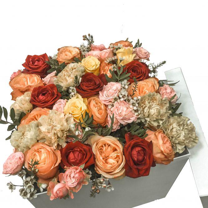 scatola grande fiori misti